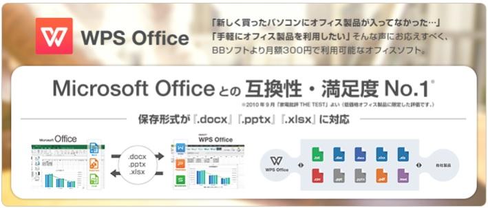 ソフトバンク「BBソフト」 WPS Office